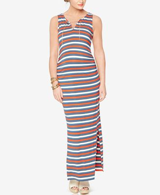 Rachel Zoe Maternity Striped Maxi Dress
