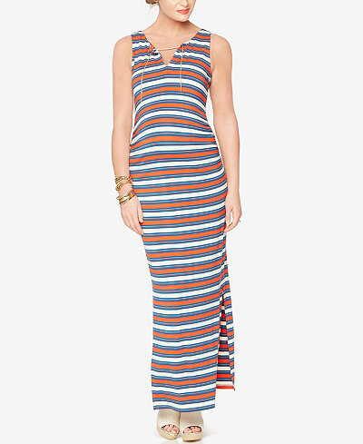 Rachel Zoe Maternity Striped Maxi Dress
