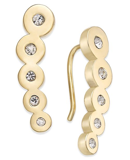 free delivery hot product cheapest kate spade new york Dainty Sparklers Gold-Tone Crystal Circular ...
