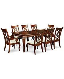 Closeout! Bordeaux 9-Pc. Dining Room Set (Table, 6 Side Chairs & 2 Arm Chairs)