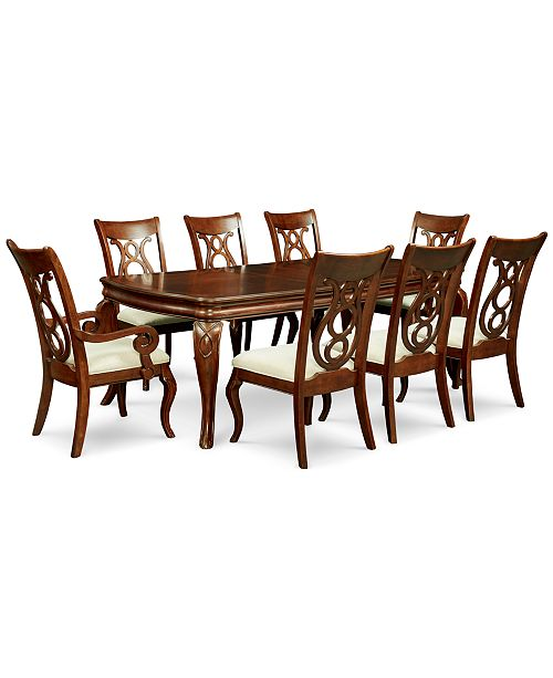 Furniture Bordeaux 9-Pc. Dining Room Set (Table, 6 Side Chairs & 2 Arm Chairs)