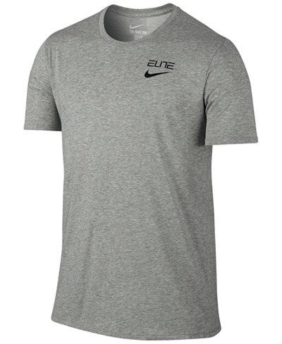 Nike Men's Elite Back-Stripe Dri-FIT Basketball T-Shirt - T-Shirts ...