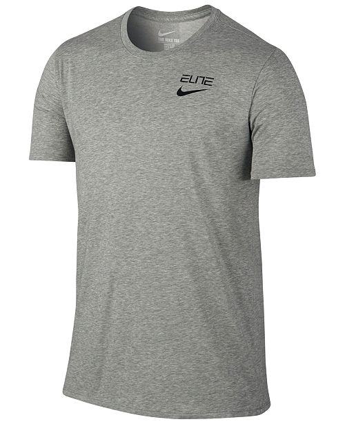 2219c4389fa7 Nike Men s Elite Back-Stripe Dri-FIT Basketball T-Shirt   Reviews ...