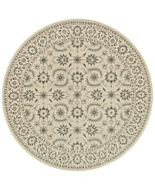 "Oriental Weavers Richmond Isphahan Ivory/ Grey 7'10"" Round Rug"