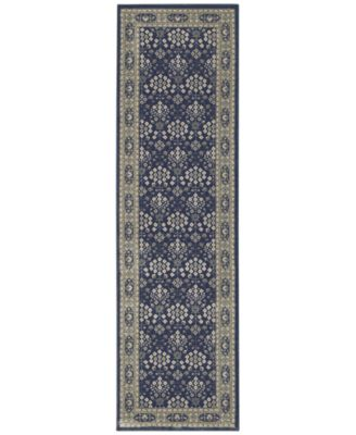 "Richmond Lillahan Navy/Grey 2'3"" x 7'6"" Runner Rug"