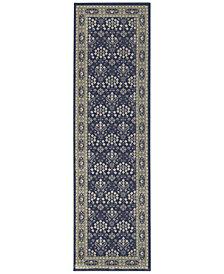 "Oriental Weavers Richmond Lillahan Navy/Grey 2'3"" x 7'6"" Runner Rug"