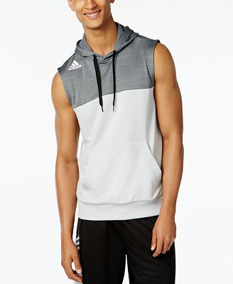 adidas Men's Team Speed Sleeveless Hoodie - T-Shirts - Men - Macy's