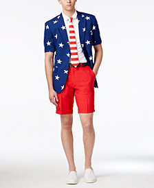 OppoSuits Men's Stars and Stripes Slim-Fit Suit & Tie