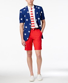 OppoSuits Men's Summer Stars and Stripes Americana Suit