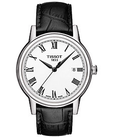 Tissot Men's Swiss Carson Black Leather Strap Watch 40mm T0854101601300