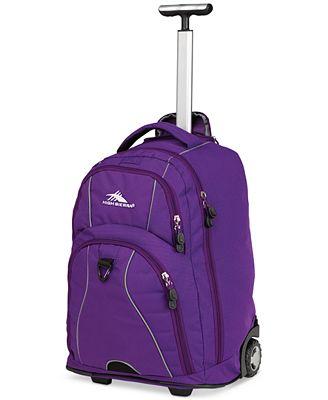 High Sierra Freewheel Rolling Backpack in Purple - Backpacks ...