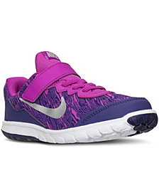 Nike Little Girls' Flex Experience 4 Print Running Sneakers  from Finish Line