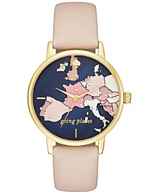 Women's Metro Vachetta Leather Strap Watch 34mm KSW1139