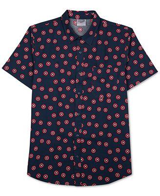 Jem Men's Captain America Graphic-Print Short-Sleeve Shirt ...