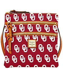 Dooney & Bourke Oklahoma Sooners Triple Zip Crossbody Bag