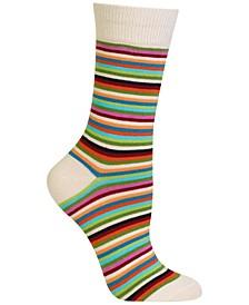 Women's Stripe Fashion Crew Socks