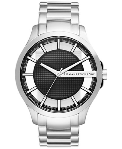 A|X Armani Exchange Men's Stainless Steel Bracelet Watch 46mm AX2179