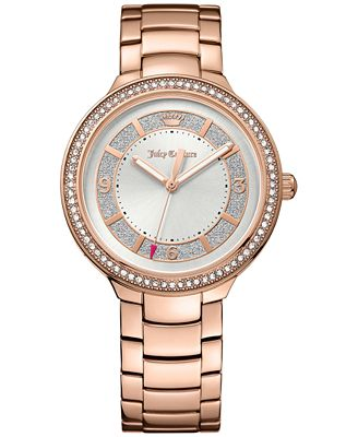 Juicy Couture Women's Catalina Diamond Accent Rose Gold-Tone Bracelet Watch 36mm 1901401
