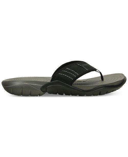 512db1dfae4682 Crocs Men s Swiftwater Flip flop   Reviews - All Men s Shoes - Men ...