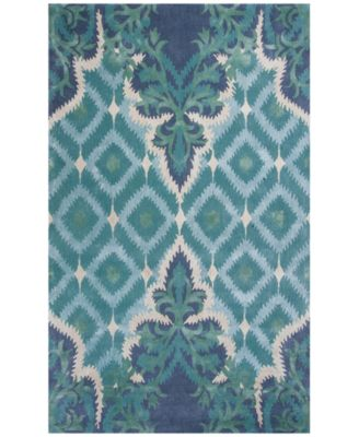 Bob Mackie Home 1007 Blue/Green Opulence 8' x 11' Area Rug