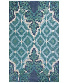 CLOSEOUT! Bob Mackie Home 1007 Blue/Green Opulence 8' x 11' Area Rug