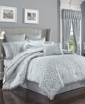 J Queen New York Harrison Chrome King Comforter Set Bedding