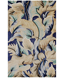 Kas Catalina 756 Blue Calla Lilies Area Rugs