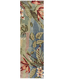 "Kas Coral 4168 Blue/Sage Breeze 2'3"" x 7'6"" Runner Rug"