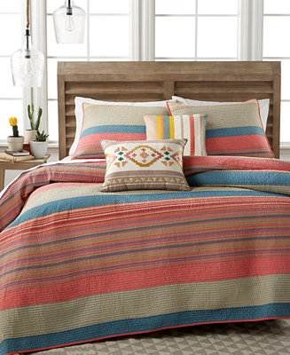 Closeout Martha Stewart Collection 100 Cotton Western Horizon Full Queen Quilt Created For