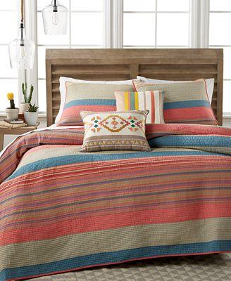 CLOSEOUT! Martha Stewart Collection 100% Cotton Western Horizon ... : macys bedding quilts - Adamdwight.com
