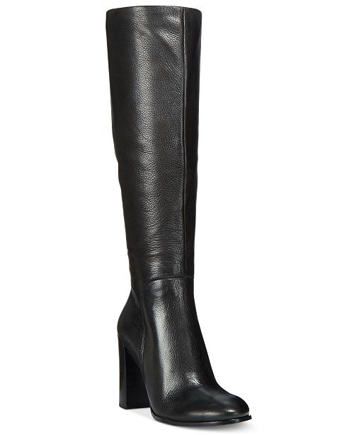 940b9e3fa6b69 Kenneth Cole New York Women s Justin Block-Heel Tall Boots   Reviews ...