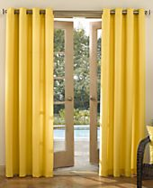 "Sun Zero Rutherford Solid Indoor/Outdoor Woven 52"" x 95"" Panel"