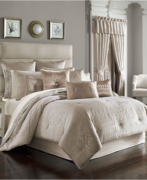 J Queen New York Wilmington Alabaster Comforter Sets Bedding