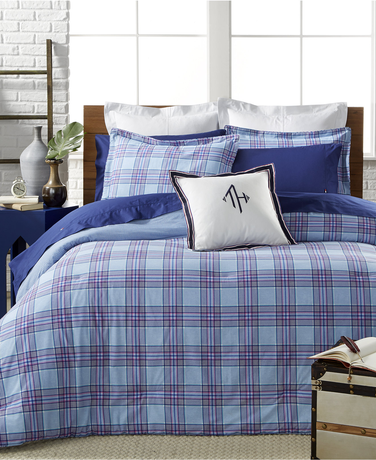 Blue bedspreads and comforters - Tommy Hilfiger Santa Clara Bedding Collection A Macy S Exclusive Style