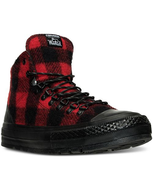 9989ccf65b3358 ... Converse Men s Chuck Taylor All Star Street Hiker Hi Woolrich  Sneakerboots from Finish ...