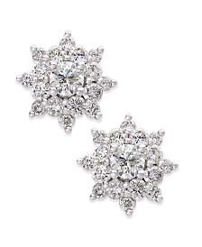 Diamond Cluster Stud Earrings (3/4 ct. t.w.) in 14k White Gold