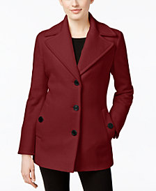 Calvin Klein Wool-Cashmere Single-Breasted Peacoat, Created for Macy's