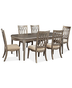 Kelly Ripa Home Hayley 7 Pc Dining Set Table 6 Side Chairs