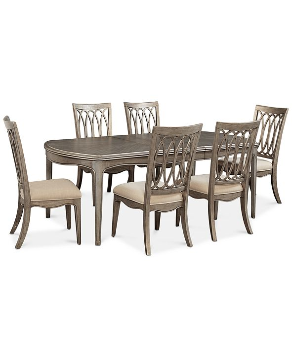 Furniture Kelly Ripa Home Hayley 7-Pc. Dining Set (Dining Table & 6 Side Chairs)