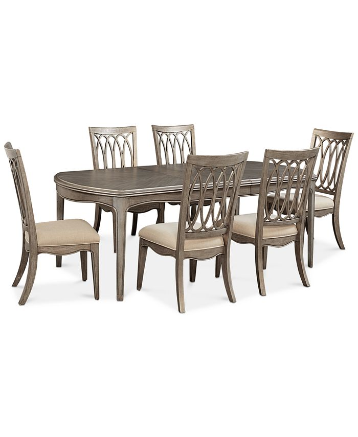 Furniture - Hayley 7-Pc. Dining Set (Dining Table & 6 Side Chairs)
