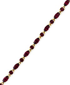 Bordeaux by EFFY® Rhodolite Garnet Tennis Bracelet (16-1/3 ct. t.w.) in 14k Rose Gold