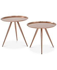 Ivie Set of 2 Side Tables, Quick Ship