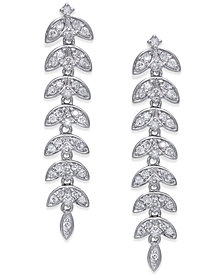 Diamond Dangle Linear Drop Earrings (1/2 ct. t.w.) in 14k White Gold