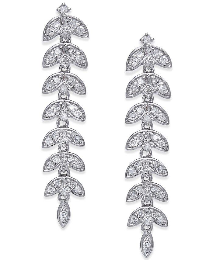 Macy's - Diamond Geometric Drop Earrings (1/2 ct. t.w.) in 14k White Gold