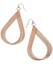 "Thalia Sodi Extra Large 2.5"" Textured Twist Teardrop Earrings, Created for Macy's"
