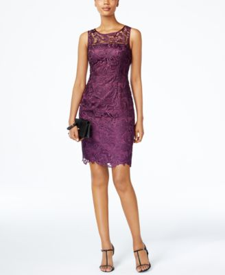 Adrianna lace sheath dress
