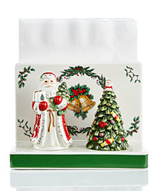 Spode 3-Pc. Christmas Tree Figural Napkin Holder & Shaker Set