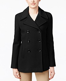 Wool-Cashmere Double-Breasted Peacoat, Created for Macy's