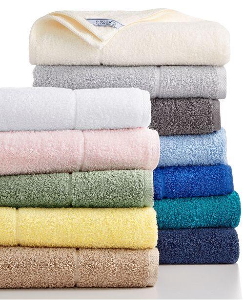 IZOD CLOSEOUT! Performance Bath Towel Collection, Cotton/Poly ...
