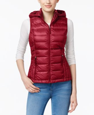 Image of 32 Degrees Hooded Packable Down Puffer Vest, A Macy's Exclusive